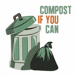 Compost Can embroidery design