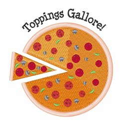 Toppings Gallore embroidery design
