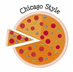 Chicago Style embroidery design
