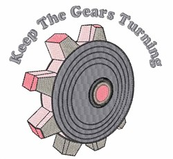 Gears Turning embroidery design