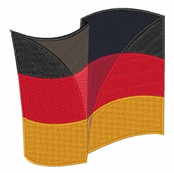 German Flag embroidery design