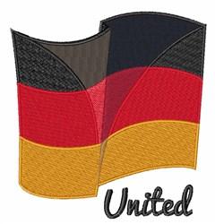 United Flag embroidery design