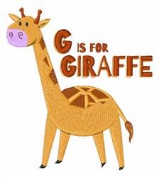 G for Giraffe embroidery design