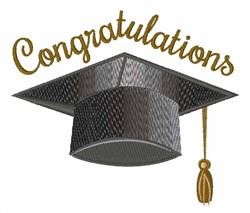 Congratulations Cap embroidery design