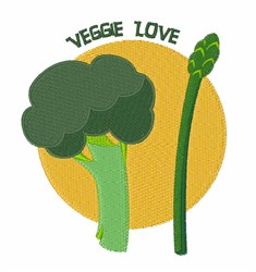 Veggie Love embroidery design