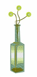 Flower Bottle embroidery design