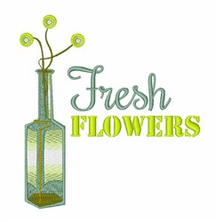 Fresh Flowers embroidery design
