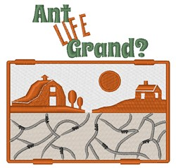 Ant Life Grand embroidery design