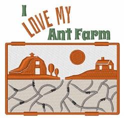 Love My Ant Farm embroidery design