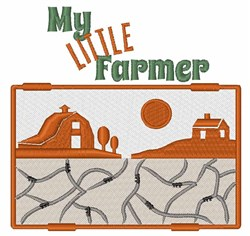 My Little Farmer embroidery design
