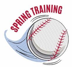 Spring Training embroidery design