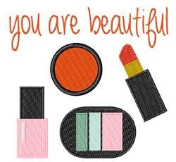 You Are Beautiful embroidery design