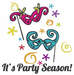 Its Party Season embroidery design
