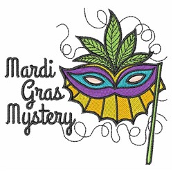 Mardi Gras Mystery embroidery design