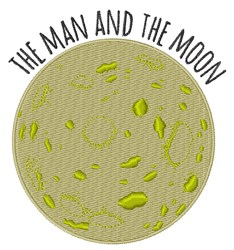 Man And Moon embroidery design