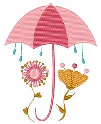 Rainy Flowers embroidery design