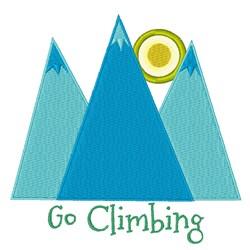 Go Climbing embroidery design