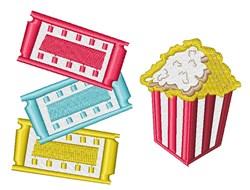 Movie Popcorn embroidery design