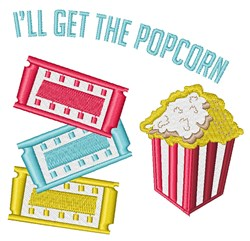 Get Popcorn embroidery design
