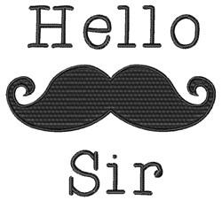 Hello Sir embroidery design