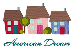 American Dream embroidery design