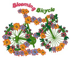 Blooming Bicycle embroidery design