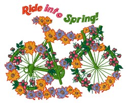 Ride Into Spring embroidery design