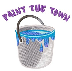 Paint The Town embroidery design