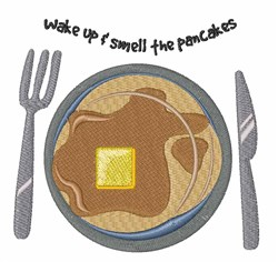 Smell The Pancakes embroidery design