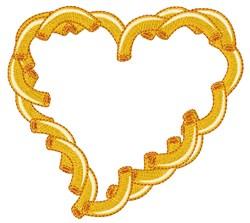 Macaroni Heart embroidery design