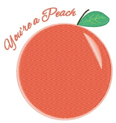 Youre A Peach embroidery design