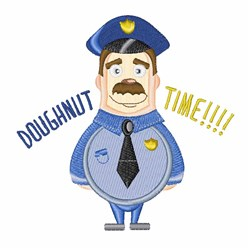 Doughnut Time embroidery design