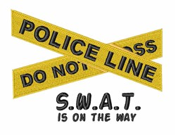 SWAT On The Way embroidery design
