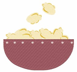 Popcorn Bowl embroidery design