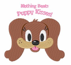 Puppy Kisses embroidery design