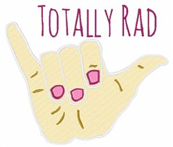 Totally Rad embroidery design