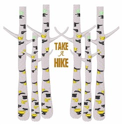 Take A Hike embroidery design