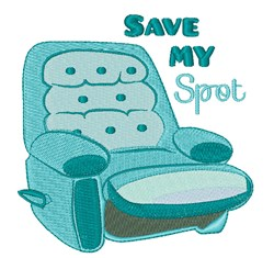 Save My Spot embroidery design