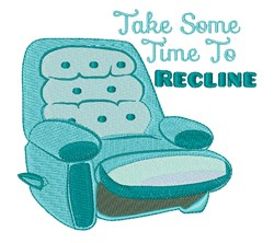 Time To Recline embroidery design