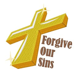 Forgive Our Sins embroidery design
