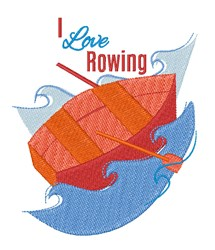 Love Rowing embroidery design
