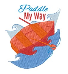 Paddle My Way embroidery design