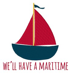Have A Maritime embroidery design