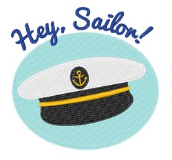 Hey Sailor embroidery design
