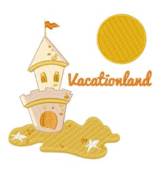 Vacationland embroidery design