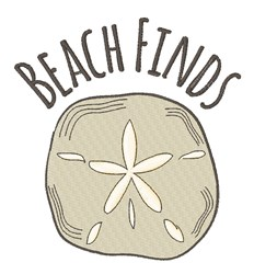 Beach Finds embroidery design
