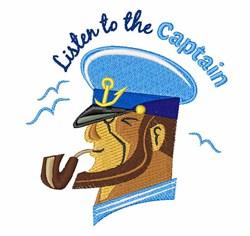 Listen To Captain embroidery design