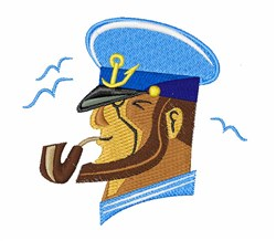 Boat Captain embroidery design