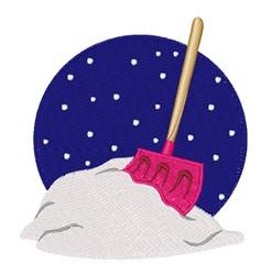 Snow Shovel embroidery design
