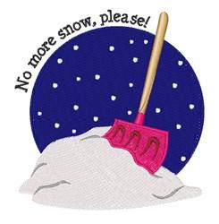No More Snow embroidery design